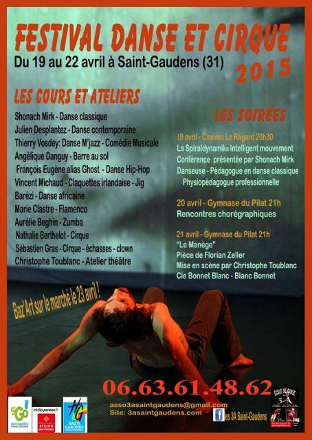 Affiche Festival Danse et Cirque 2015