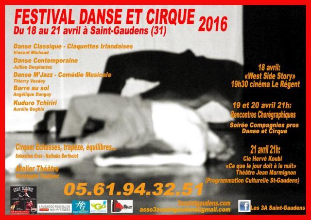 Affiche Festival Danse et Cirque 2016