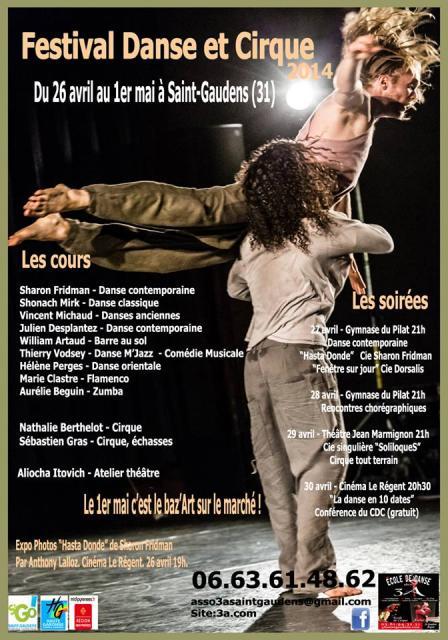 Affiche Festival Danse et Cirque 2014