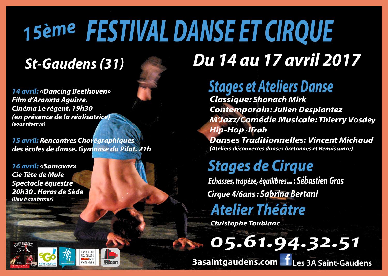 Affiche festival Danse et Cirque 2017