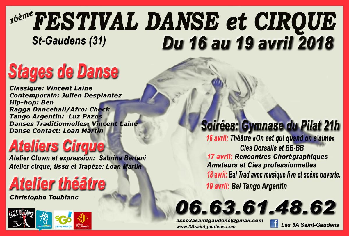 Affiche Festival Danse et Cirque 2018