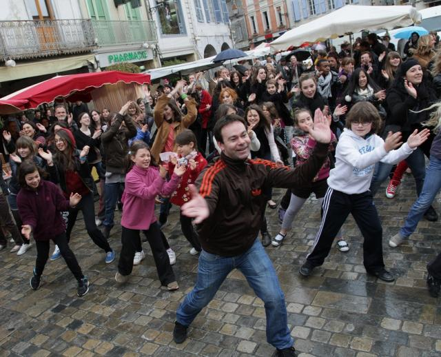 flashmob à Saint-Gaudens
