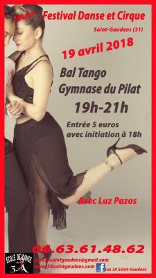Luz affiche bal tango